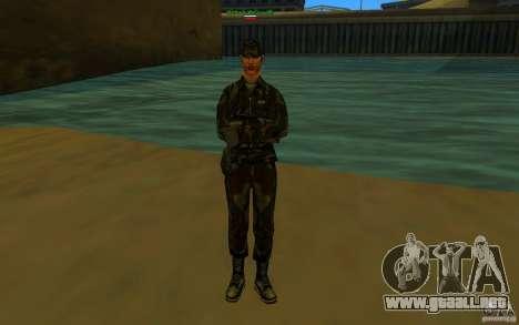 HQ skin Army para GTA San Andreas sucesivamente de pantalla