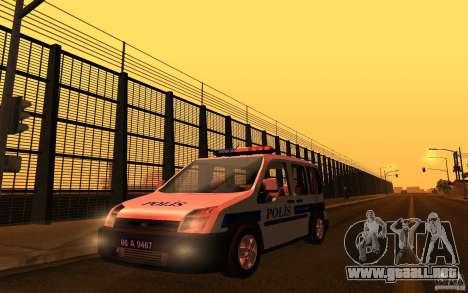 Ford Transit Connect Turkish Police para GTA San Andreas