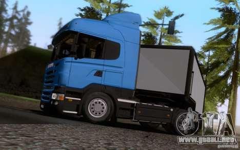 Scania R500 para GTA San Andreas vista hacia atrás