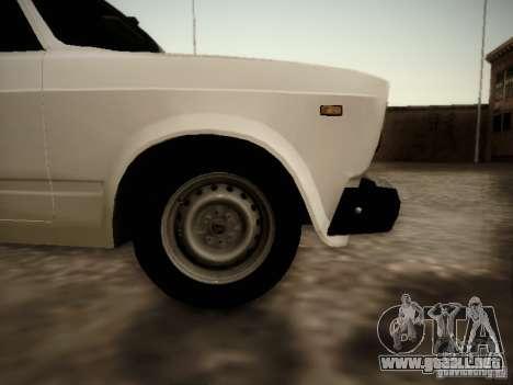 VAZ 2107 v2 para GTA San Andreas vista posterior izquierda