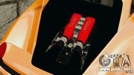 Ferrari 458 Italia 2010 v3.0 para GTA 4 vista hacia atrás