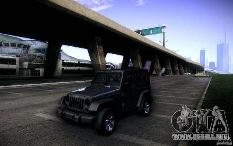 Jeep Wrangler Rubicon 2012 para vista lateral GTA San Andreas