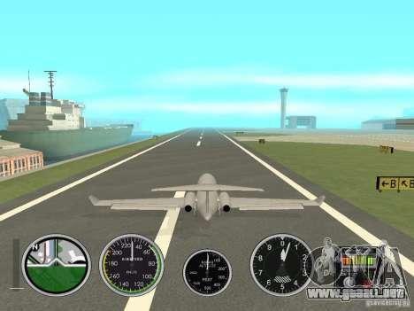 Instrumentos de aire en un avión para GTA San Andreas