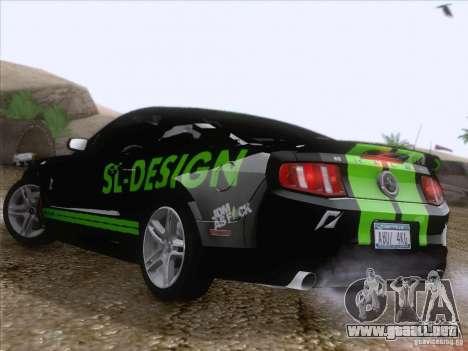 Ford Shelby Mustang GT500 2010 para GTA San Andreas