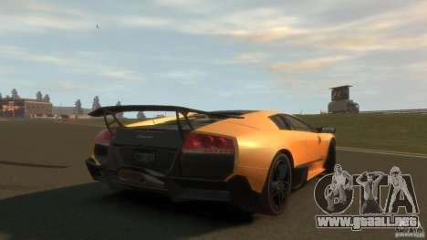 Lamborghini Murcielago VS LP 670 FINAL para GTA 4 Vista posterior izquierda
