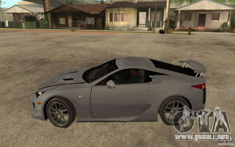Lexus LFA 2010 para GTA San Andreas left