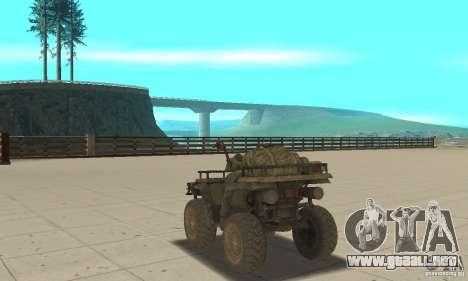 Nuevo Atv para GTA San Andreas vista posterior izquierda