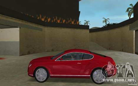 Bentley Continental GT (Final) para GTA Vice City left