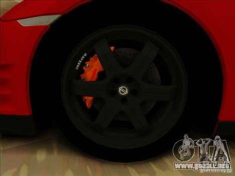 Nissan GTR Egoist 2011 para visión interna GTA San Andreas