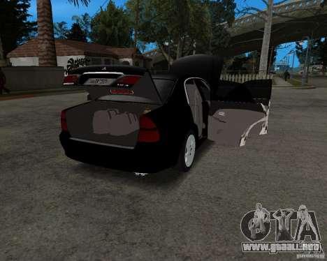 Mitsubishi Diamante para GTA San Andreas vista hacia atrás