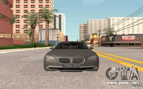 BMW 730d para GTA San Andreas left