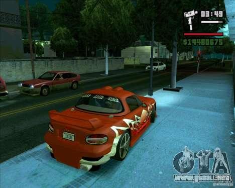 Mazda Miata Tunable para GTA San Andreas vista posterior izquierda