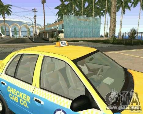 Ford Crown Victoria 2003 Taxi Cab para visión interna GTA San Andreas