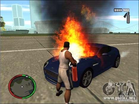 Auto extinguir un extintor de incendios para GTA San Andreas tercera pantalla