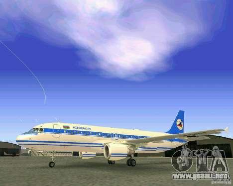 Airbus A-320 Azerbaijan Airlines para vista lateral GTA San Andreas