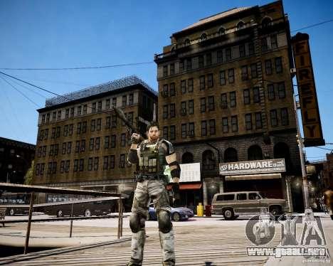 Chris from Resident Evil 5 para GTA 4 quinta pantalla