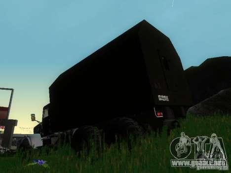 KrAZ-254 para GTA San Andreas vista posterior izquierda