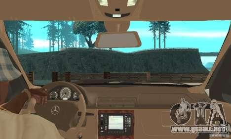 Mercedes-Benz ML 430 para la visión correcta GTA San Andreas