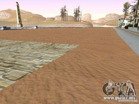 Playa nueva textura v1.0 para GTA San Andreas quinta pantalla