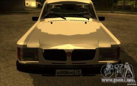 Volga GAZ 311021 para la visión correcta GTA San Andreas
