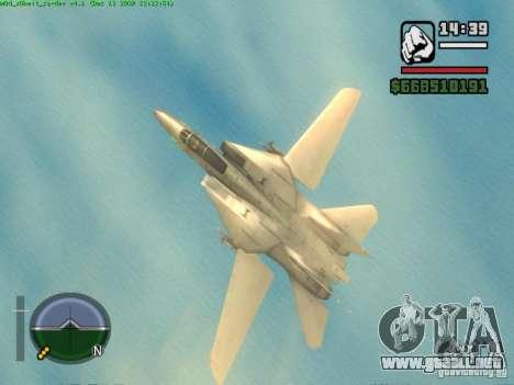 F 14 A TOMCAT para la visión correcta GTA San Andreas