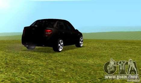 LADA Granta v2.0 para GTA San Andreas vista hacia atrás