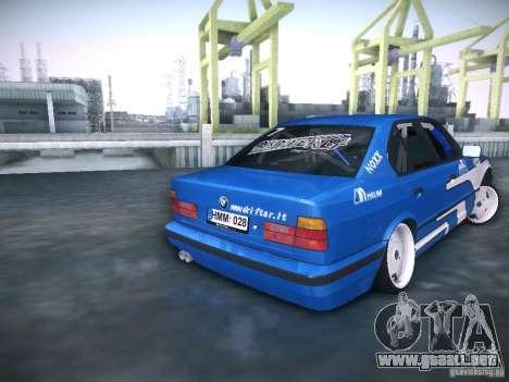 BMW E34 Drift para GTA San Andreas vista posterior izquierda