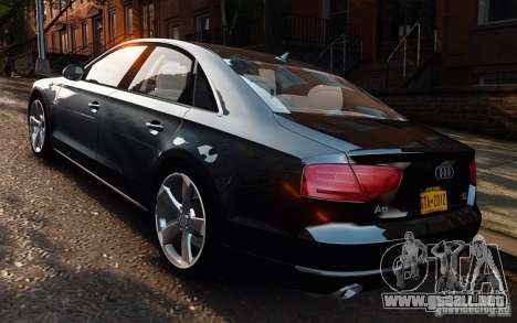 Audi A8 2010 V8 FSI para GTA 4 left
