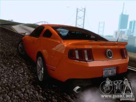 Ford Shelby Mustang GT500 2010 para visión interna GTA San Andreas