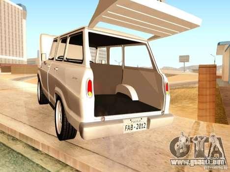 Chevrolet Veraneio de Luxo 1973 para visión interna GTA San Andreas