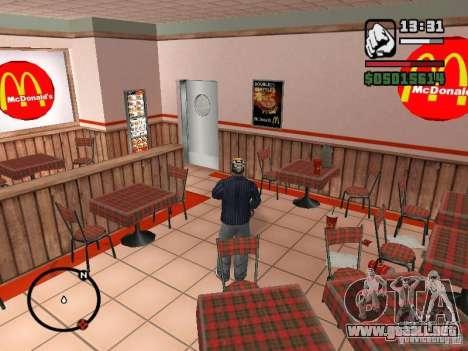 Mc Donalds para GTA San Andreas undécima de pantalla