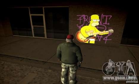 Simpson Graffiti Pack v2 para GTA San Andreas sucesivamente de pantalla