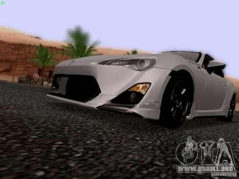 Toyota 86 TRDPerformanceLine 2012 para visión interna GTA San Andreas