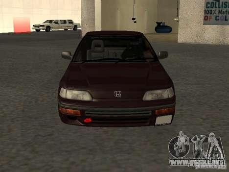 Honda Civic CRX JDM para la vista superior GTA San Andreas
