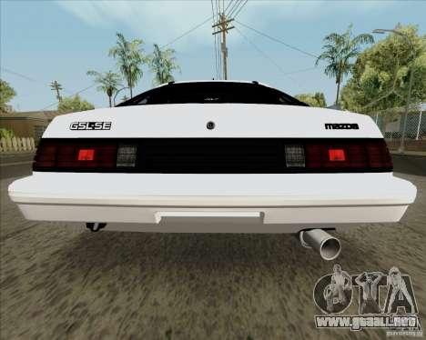 Mazda RX-7 FB Race para la visión correcta GTA San Andreas