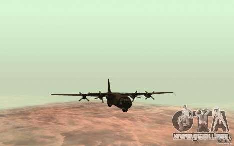 C-130 From Black Ops para GTA San Andreas vista posterior izquierda