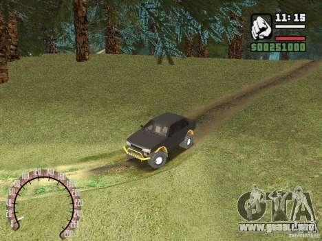 Vaz 21099 4 x 4 para GTA San Andreas vista hacia atrás