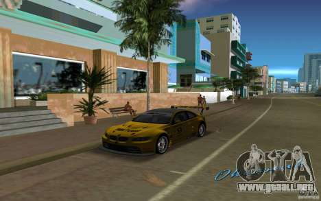 BMW M3 GT2 para GTA Vice City vista lateral izquierdo