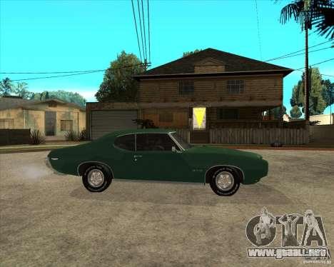 Pontiac GTO 1969 para la visión correcta GTA San Andreas