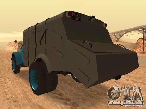 Camión GAZ 51 para GTA San Andreas vista posterior izquierda