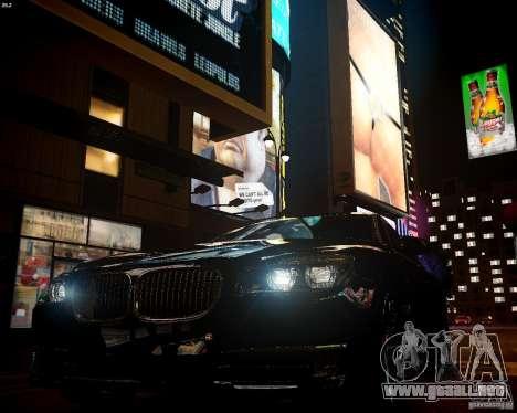 BMW 750Li 2013 para GTA 4 vista hacia atrás