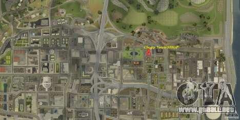 Cropp Town SHOP para GTA San Andreas sucesivamente de pantalla