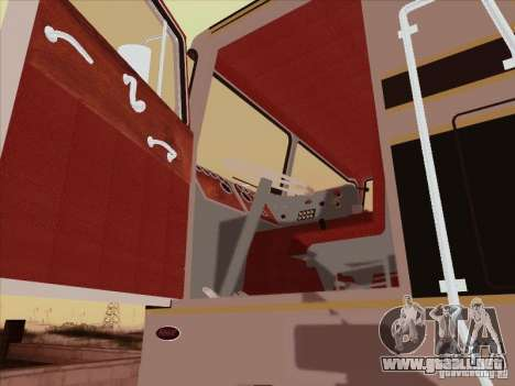 Peterbilt 352 para visión interna GTA San Andreas