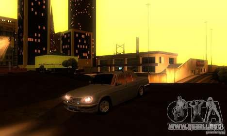 GAZ 31105 Volga abogado para la vista superior GTA San Andreas