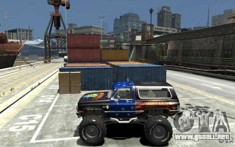 Chevrolet Blazer K5 1986 Monster Edition para GTA 4 left