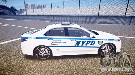 Honda Accord Type R NYPD (City Patrol 7605) ELS para GTA 4 vista interior