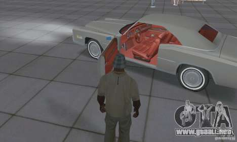 Cadillac Eldorado Convertible 1976 para visión interna GTA San Andreas