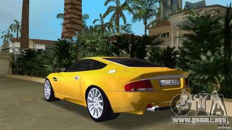 Aston Martin V12 Vanquish 6.0 i V12 48V v2.0 para GTA Vice City vista lateral izquierdo