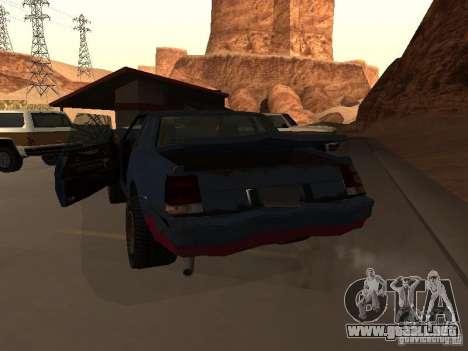 Emperador Rusty de GTA 4 para GTA San Andreas vista posterior izquierda