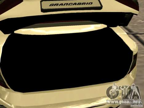 Maserati GranCabrio 2011 para vista lateral GTA San Andreas